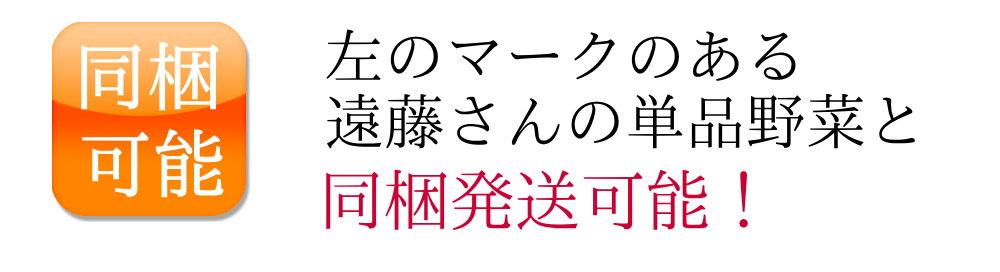 遠藤さんの単品野菜と同梱可能!