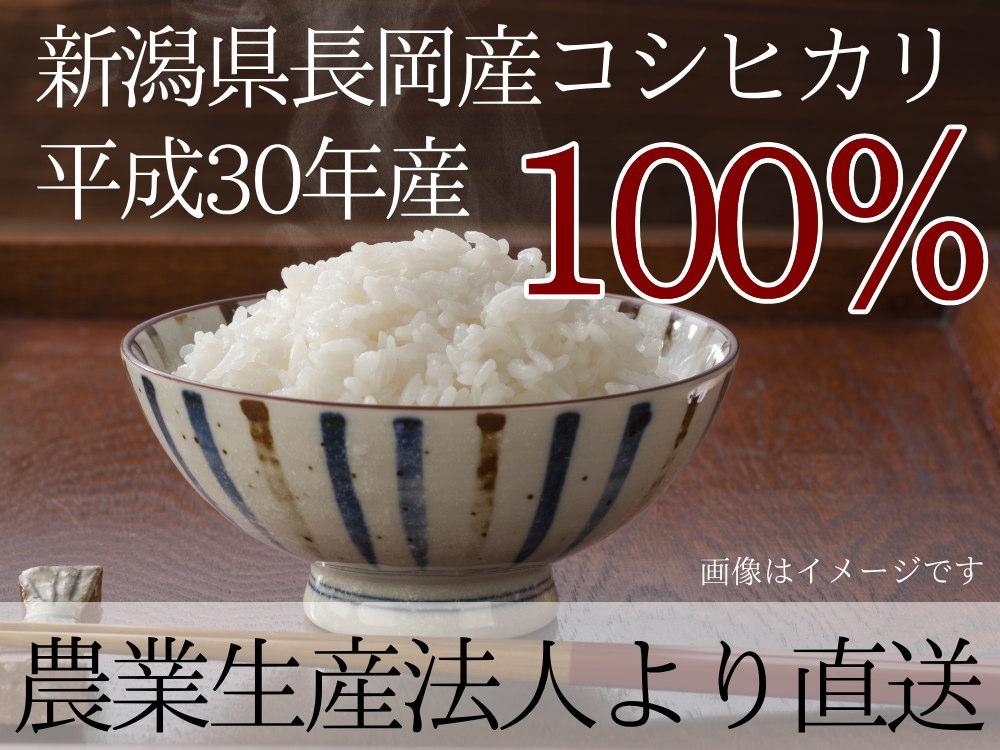 長岡産コシヒカリ平成30年新米100%
